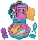 Polly Pocket Mini-Coffret bleu ciel Le Dressing de Lila avec 1 mini-figurine et accessoires miroir, chaise et boite à bijoux, jouet enfant, FRY31