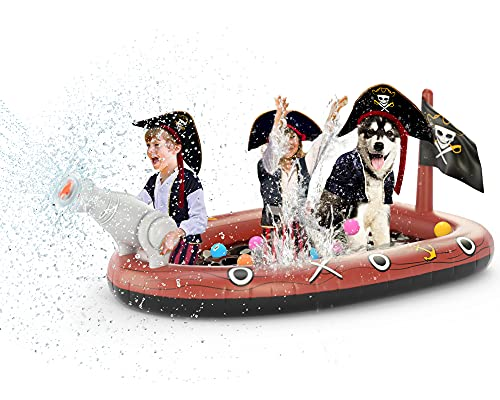 Jasonwell Inflatable Kiddie Pool Sprinkler - Splash Pad for Kids Toddler Pool Outside Children...