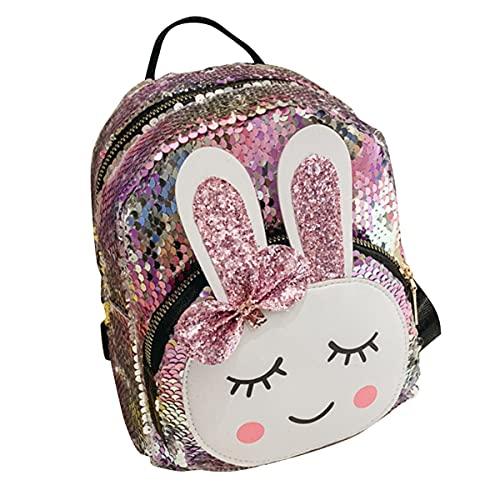 Nihlsen Niños lindo oreja lentejuelas mochila para niños mochilas escolares mochila para niñas mochila de viaje con lentejuelas