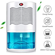 Gocheer Upgraded Dehumidifier for Home,Up to 320 Sq.ft Dehumidifiers for High Humidity in Basements Bedroom Closet Bathroom Kitchen Small Quiet Portable Air Dehumidifiers with 2000ml(64oz) Water Tank