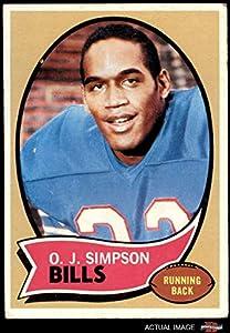 1970 Topps # 90 O.J. Simpson Buffalo Bills (Football Card) Dean's Cards 3 - VG Bills