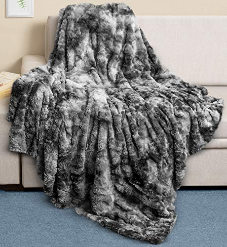 Everlasting Comfort Luxury Faux Fur Throw Blanket - Ultra Soft and Fluffy - Plush Throw Blankets - female best friend gift idea example