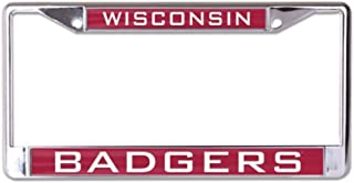 WinCraft NCAA Wisconsin Badgers 6 x 12 inch Metal License Plate Frame
