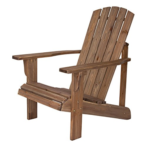 Shine Company 5616RW Lakewood Adirondack Chair, Rustic Wine