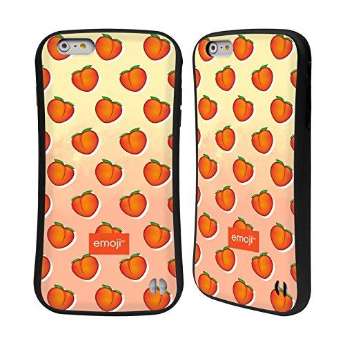 Head Case Designs Oficial Emoji Melocotones Frutas Carcasa híbrida Compatible con Apple iPhone 6 Plus/iPhone 6s Plus