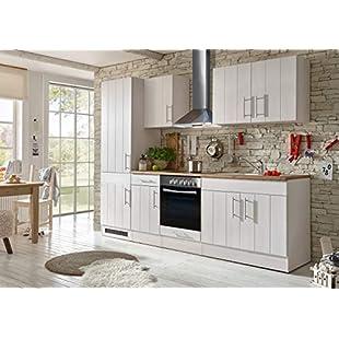 Customer reviews Respekta Kitchen Kitchenette Fitted Kitchen Cottage Kitchen Fitted Kitchen Fully Fitted Kitchen 270 Cm White:Eventmanager