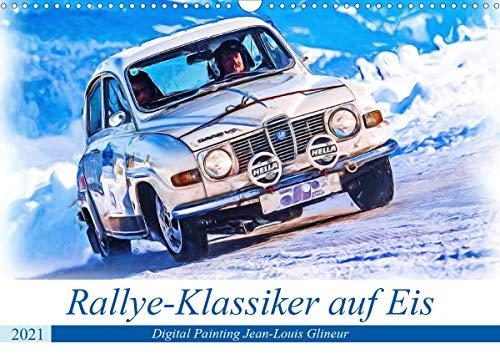 Rallye-Klassiker auf Eis (Wandkalender 2021 DIN A3 quer)