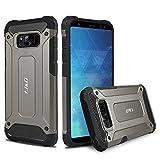 Custodia Galaxy S8, J&D [Protezione Robusta] [Armatura Sottile] Ibrida Antiurta Protettiva aspra Custodia per Samsung Galaxy S8 - Metallizzato Nero