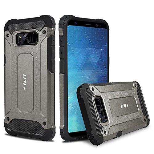 J&D Case Compatibel met Samsung Galaxy S8 Hoesje, Heavy Duty ArmorBox, Dubbellaagse Schokbestendige Hybride Robuuste Bumperhoes voor Galaxy S8 Hoes, Niet voor Samsung Galaxy S8 Plus, Zwart