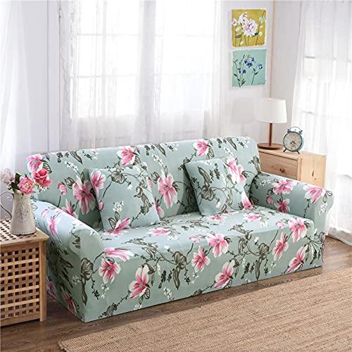 WXQY Funda de sofá elástica Antideslizante, Todo Incluido, Funda de sofá de Esquina en Forma de L, protección para Mascotas, Funda de sofá, combinación A17, 4 plazas