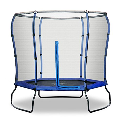 Safe Jump Rebo 7FT Trampoline With HALO Safety Enclosure - 2 Colours (Blue)