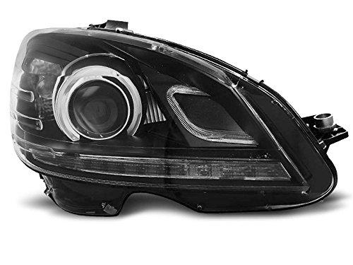 1 paar koplampen C-klasse W204 07-10 Daylight DRL LED zwart (E89)