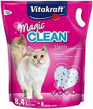 Vitakraft - Litière Magic Clean 8 Semaines pour chat - 8,4L