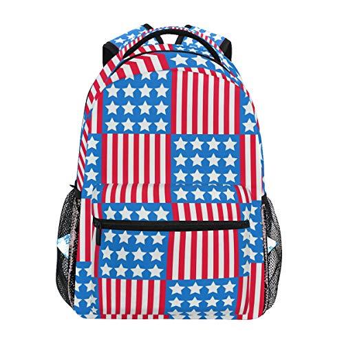 DXG1 Zaino Bandiera Americana Donne Uomini Ragazzo Ragazzo Scuola Borsa Bookbag Casual Borsa Daypack Forniture
