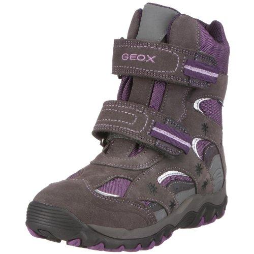 Geox Junior Alaska Girl WPF Mädchen Stiefel Nylon EU 32 grau/dk grey/violet
