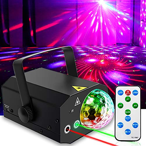 Party Lights + Disco Ball GOOLIGHT Dj Disco Lights LED