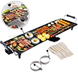 COSTWAY XL Electric Teppanyaki Table Grill, BBQ Griddle | Non-Stick Barbecue Hot Plate