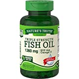 Nature's Truth Triple Strength Fish Oil 1360 mg Capsules, 60 Count
