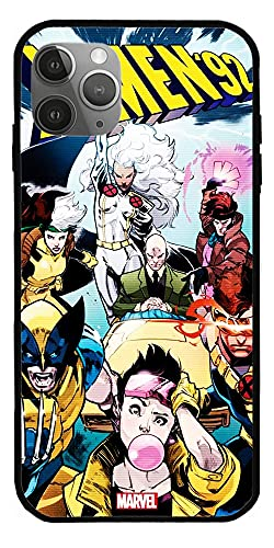 Custodia compatibile con iPhone 7 Plus X Men 92 Poster a fumetti Serie limitata Anime Custodie in vetro trasparente puro Cover Full Body