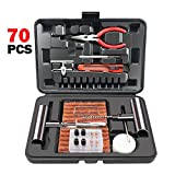ORCISH 70Pcs Tire Repair Kit, Heavy Duty Tire Plug Kit Flat Tire Repair Kit Tire Patch Kits Puncture Repair Kit