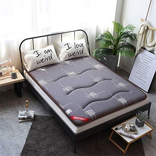 HLDBW Hypoallergene Futon Matrasslaapzaal voor studenten, opvouwbaar matras, draagbaar, dikker zacht kussen, Tatami vloermat voor thuisreizen, campingbank, matras,