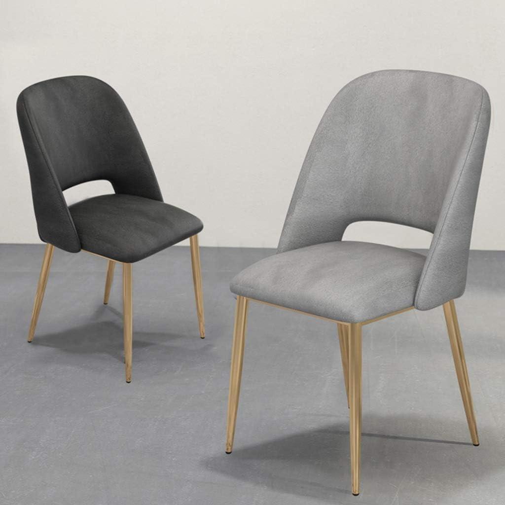 Ménage dinant la chaise, étude luxueuse chaise de dossier de chaise de restaurant de balcon de dossier de tissu de chaise, 43 * 46 * 85CM de salon (Couleur : #1) #4