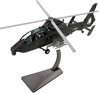 ZRL77y Adult Model - Metal Helicopter Model Simulation Black Cyclone Aviation Army Model Decoration/Gifts/Collection/Craft...