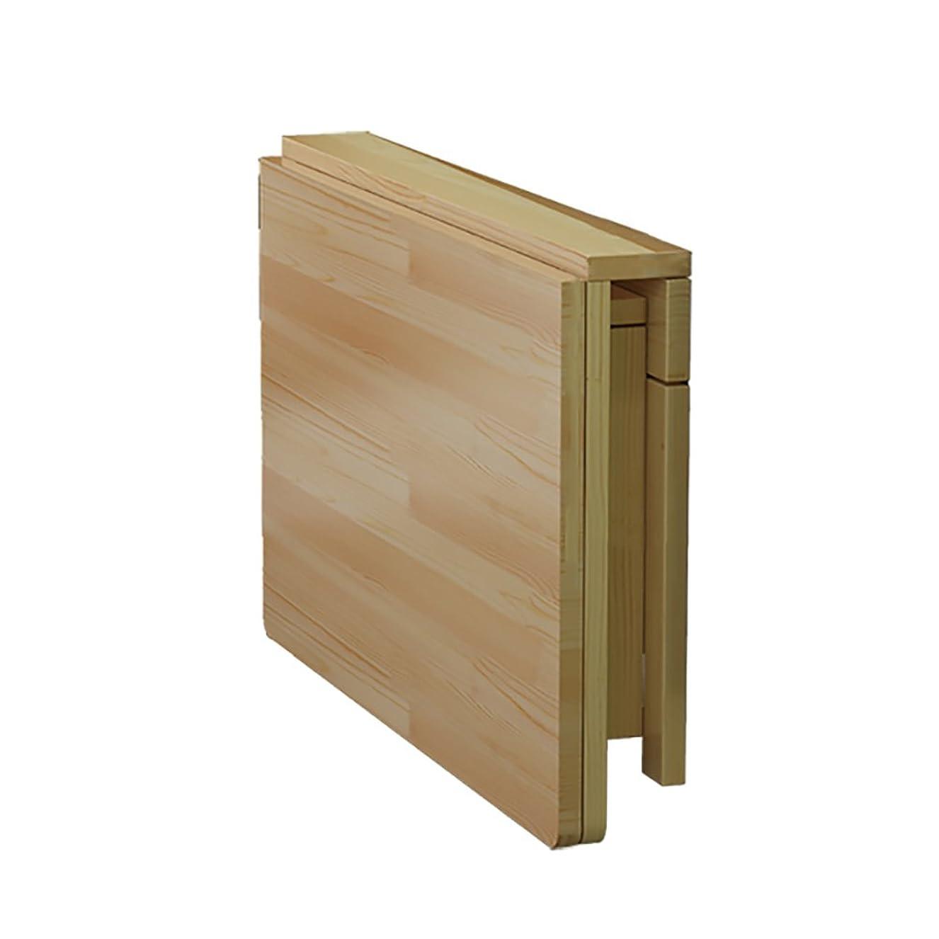 スチール適応的矩形QING MEI 折りたたみ式テーブル、ダブルブラケット無垢材壁掛け壁掛けテーブル、壁折りたたみ式テーブル、ホームコンピュータデスクダイニングテーブルデスクウォールテーブル A++ (サイズ さいず : 100x50cm)