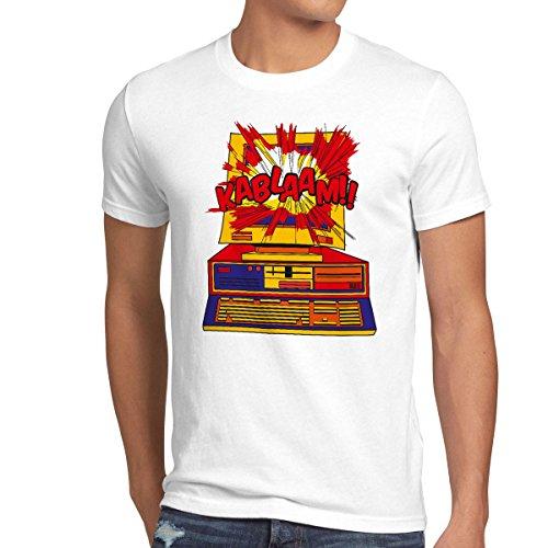 CottonCloud Kablaam!! Camiseta para Hombre T-Shirt Sheldon Carta Ajuste televisor