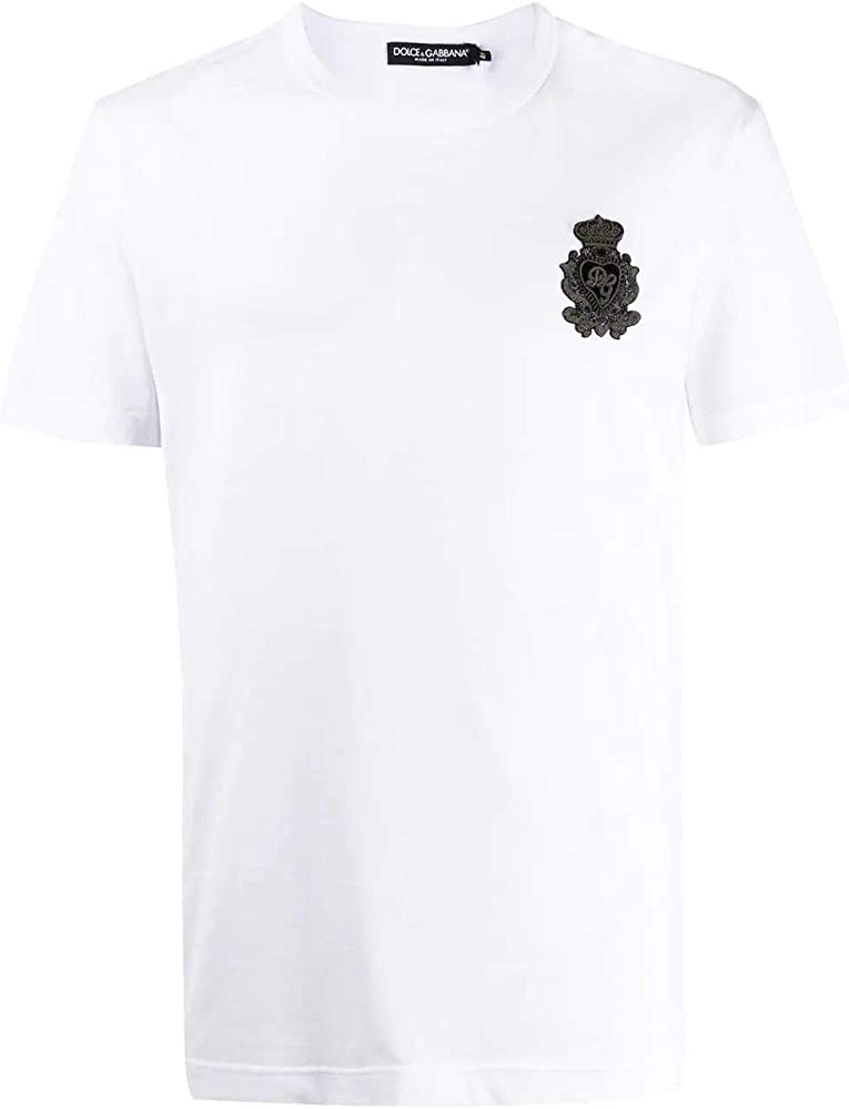 Dolce & gabbana luxury fashion, maglietta, t-shirt da uomo, maniche corte, 100% cotone G8KBAZG7VKVW0800