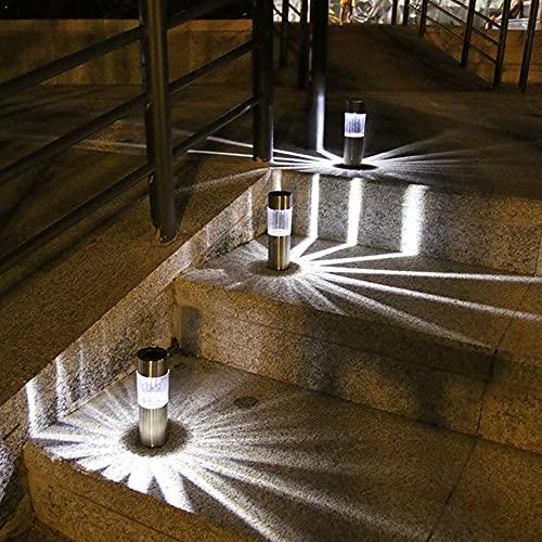 SOBW - Juego de 6 lámparas solares para jardín, IP65, resistentes al agua, lámparas solares para jardín, lámpara decorativa para exteriores y carreteras de seguridad, luces de jardín, patio, césped