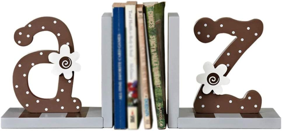 Atlanta Mall Creative Wooden Letters Bookends Heavy Popular Geometri Book Ends Duty