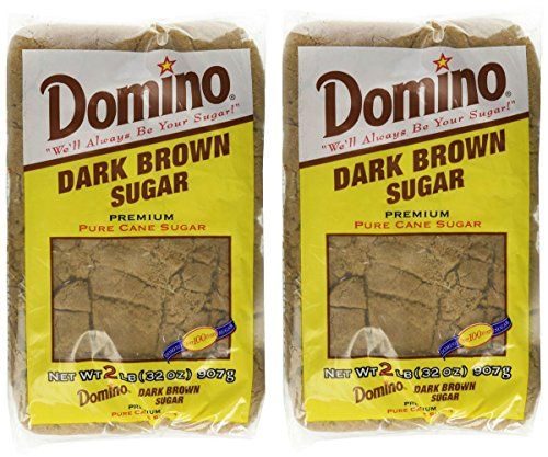 Domino Dark Brown Sugar 2 Lb (Pack of 2)