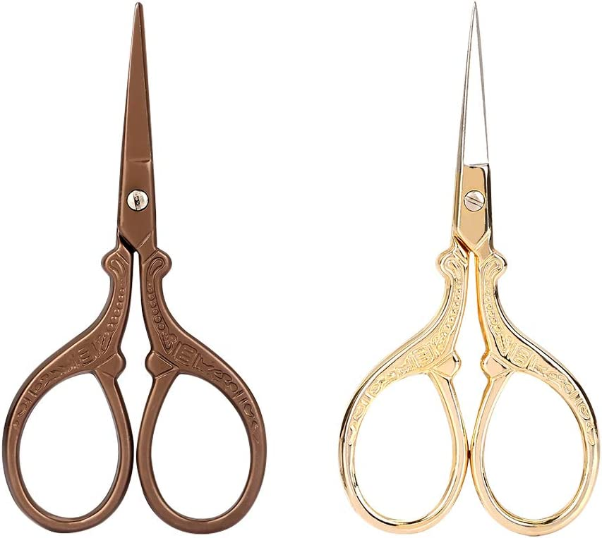 IGKE Stainless Steel Scissors 2Pcs Vintage Eyebrow Sale price Trim Virginia Beach Mall