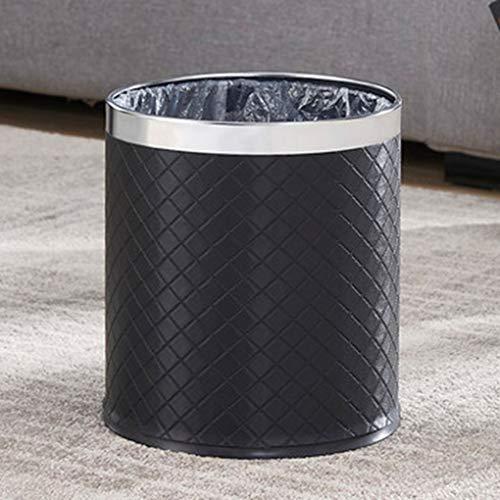 Trash Can Haushalt Küche Badezimmer Edelstahl Mode Uncovered Trash Can (Color : Trash can B)