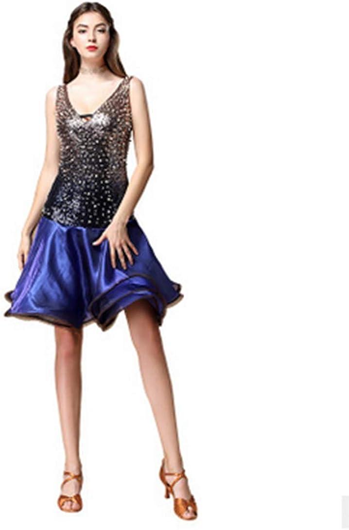 Sexy 2021new shipping free shipping Women Latin Dance Dress for Ballroom B Dancing Max 72% OFF Sequin Skirt