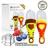 O³ Chupete Fruta - 2 Unidades con 6 Tetinas De Diferentes Tamaños -...