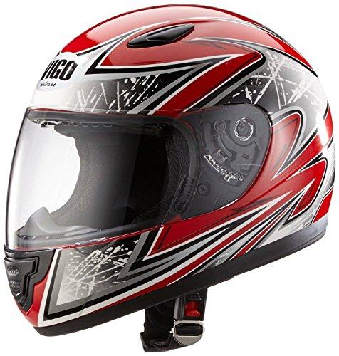 Protectwear SA03-RT-XXS Kinder Motorradhelm, Integralhelm, Größe XXS (Youth M), Rot/Silber