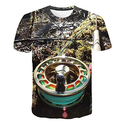 ZHOUBIANREN Unisex, Zomer 3D Vishaak Digitaal Gedrukt Patroon Snel Droog Nieuwigheid Casual Sport Fitness Crew Neck T Shirts Korte mouw Top T-Shirt