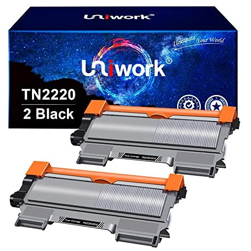Uniwork TN2220 TN2010 Cartucho de tóner compatible para Brother TN-2220 TN-2010 para Brother MFC-7360N HL-2130 HL-2240… 1