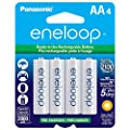 Panasonic eneloop AA New 2100 Cycle Ni-MH Pre-Charged Rechargeable Batteries from Panasonic