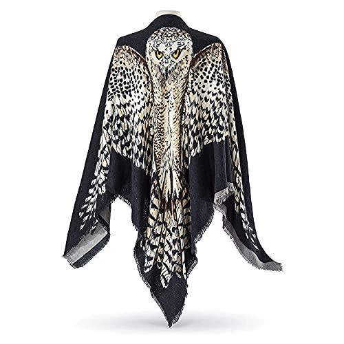 Reversible Owl Wing Shawl