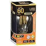 オーム電機 LED電球 フィラメント E26 60形相当 全方… image