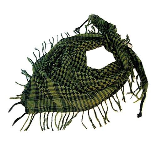 Yvelands Schal Wrap Unisex Mode Frauen Männer Arabischen Shemagh Keffiyeh Palästina Schal Schal Wrap(Grün)