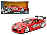 StarSun Depot Dom's Mazda RX-7 Red Fast and Furious Movie 1/24 Model Car by Jada