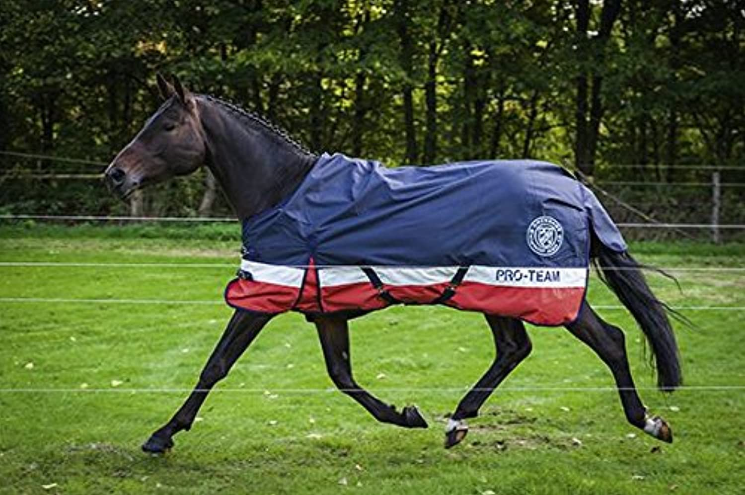 Hkm Pro Team Helsinki Turnout Rug 1200D with Polar Fleece Lining