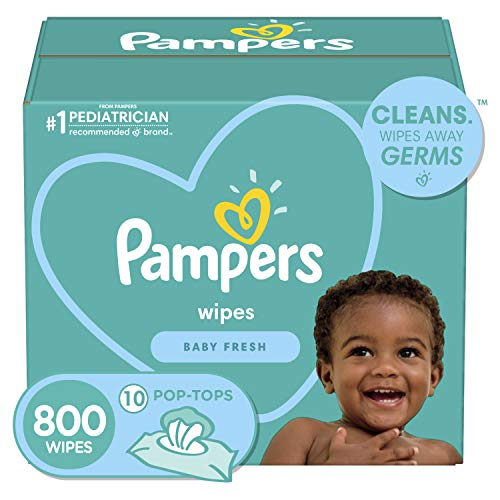Pampers, Baby Diaper Wipes, Baby Fresh Scent, 10X Pop-Top Packs, 800...