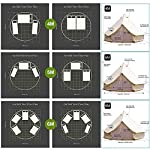 TentHome 4-Season Waterproof Cotton Bell Tent With Stove Hole on Roof Glamping Tent for Camping Travel Christmas Party 6