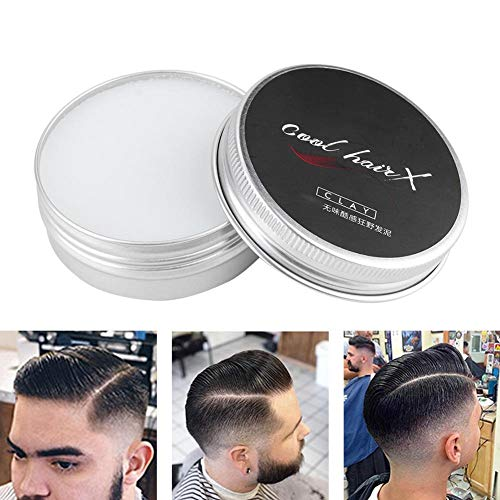 wosume wosumeArgile à Cheveux, 50g Argile à Cheveux pour Hommes Boue de Cheveux Moelleuse inodore Durable pour la Coiffure