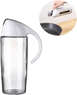 Pawaca ガラス 漏れ防止 オイルポット 密閉 蓋付 調味料ボトル しょうゆ差し 醤油ボトル ビネガーボトル ビネガーポット キッチン レストランや料理店に適用 調理器具